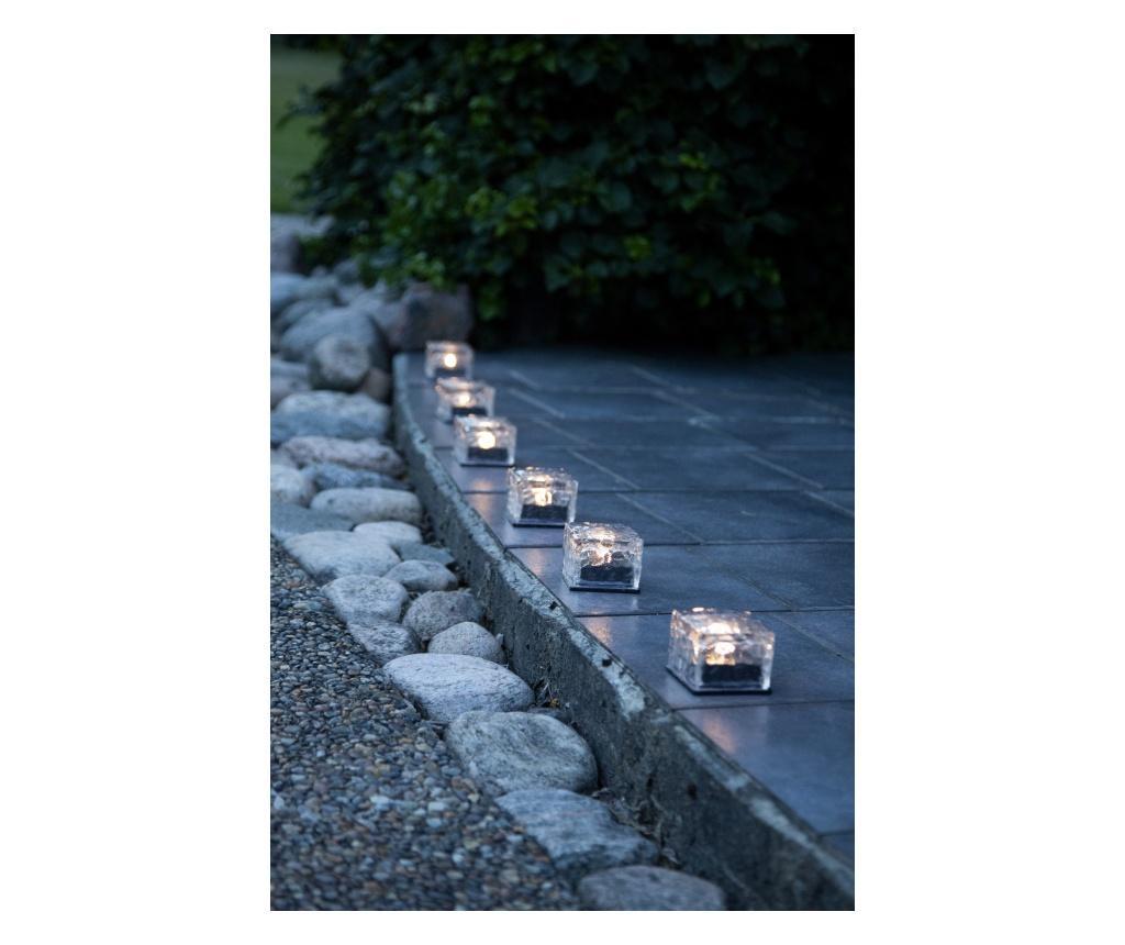 Set 3 lampi solare cu LED Icecube - Best Season