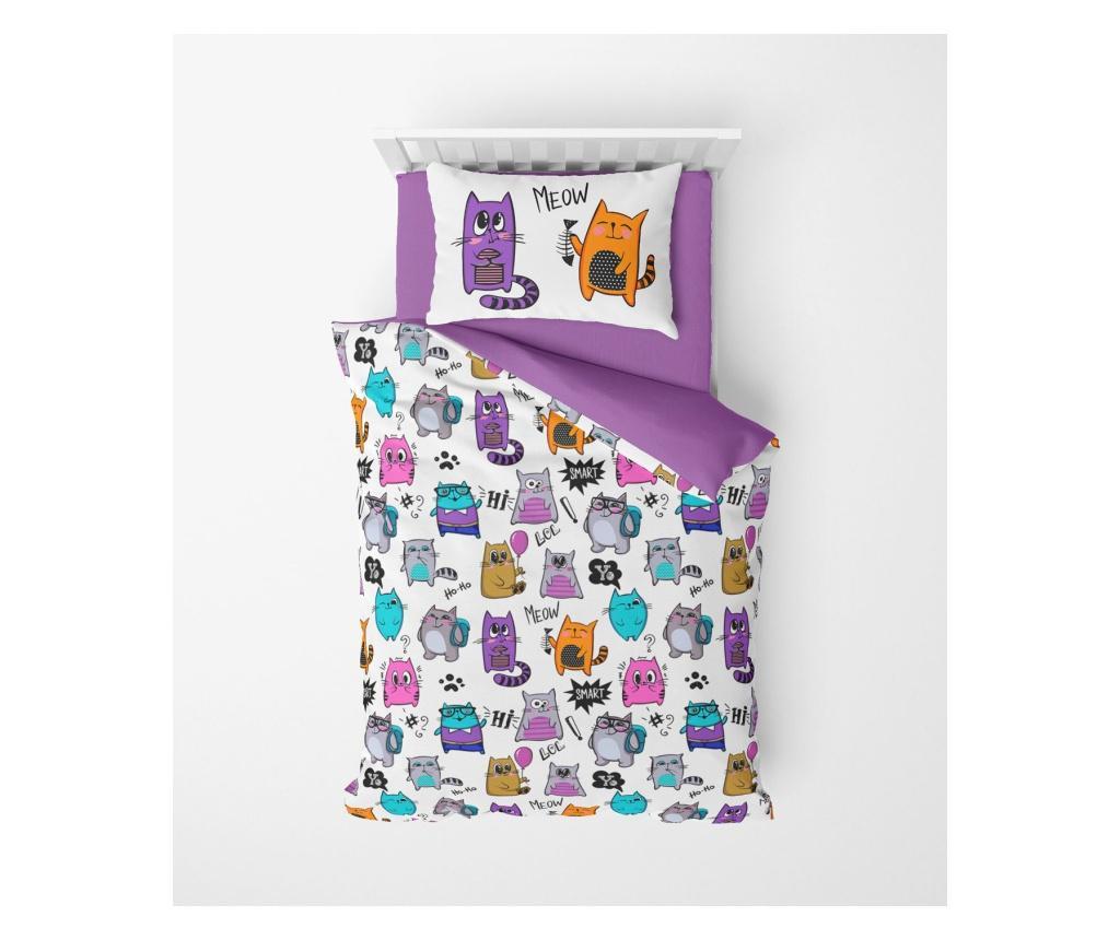 Lenjerie de pat pentru copii Amaranthus - Oyo Home, Multicolor vivre.ro