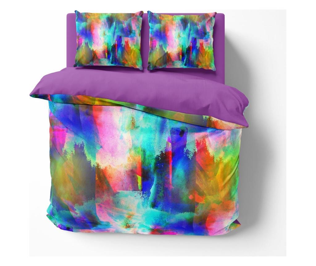 Lenjerie de pat Double Calla Lily - Oyo Home, Multicolor imagine vivre.ro