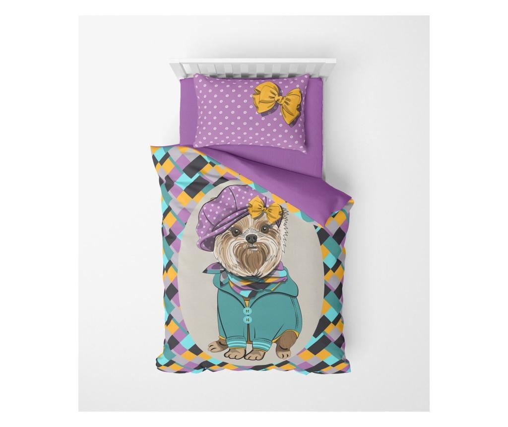Lenjerie de pat pentru copii Bottlebrush - Oyo Home, Multicolor imagine vivre.ro