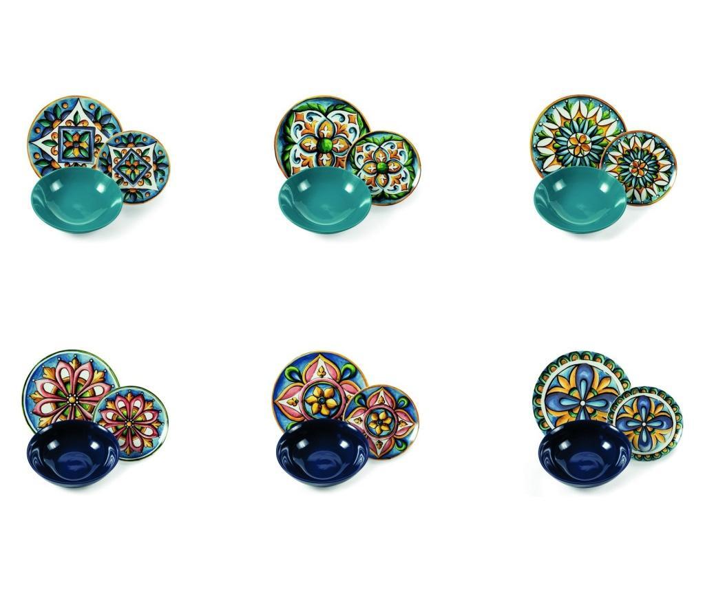Set de masa 18 piese Le Maioliche Multicolor
