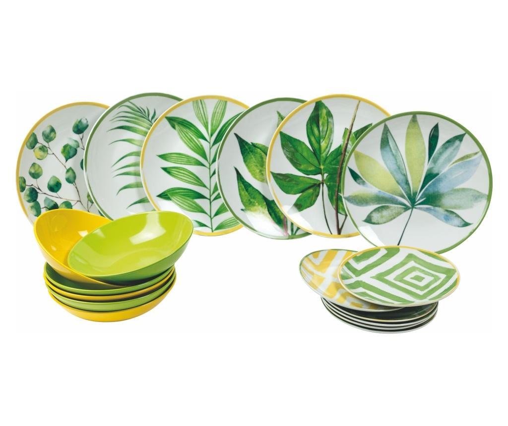 Set de masa 18 piese Oriental Botanique - Villa D'Este Home Tivoli, Multicolor imagine