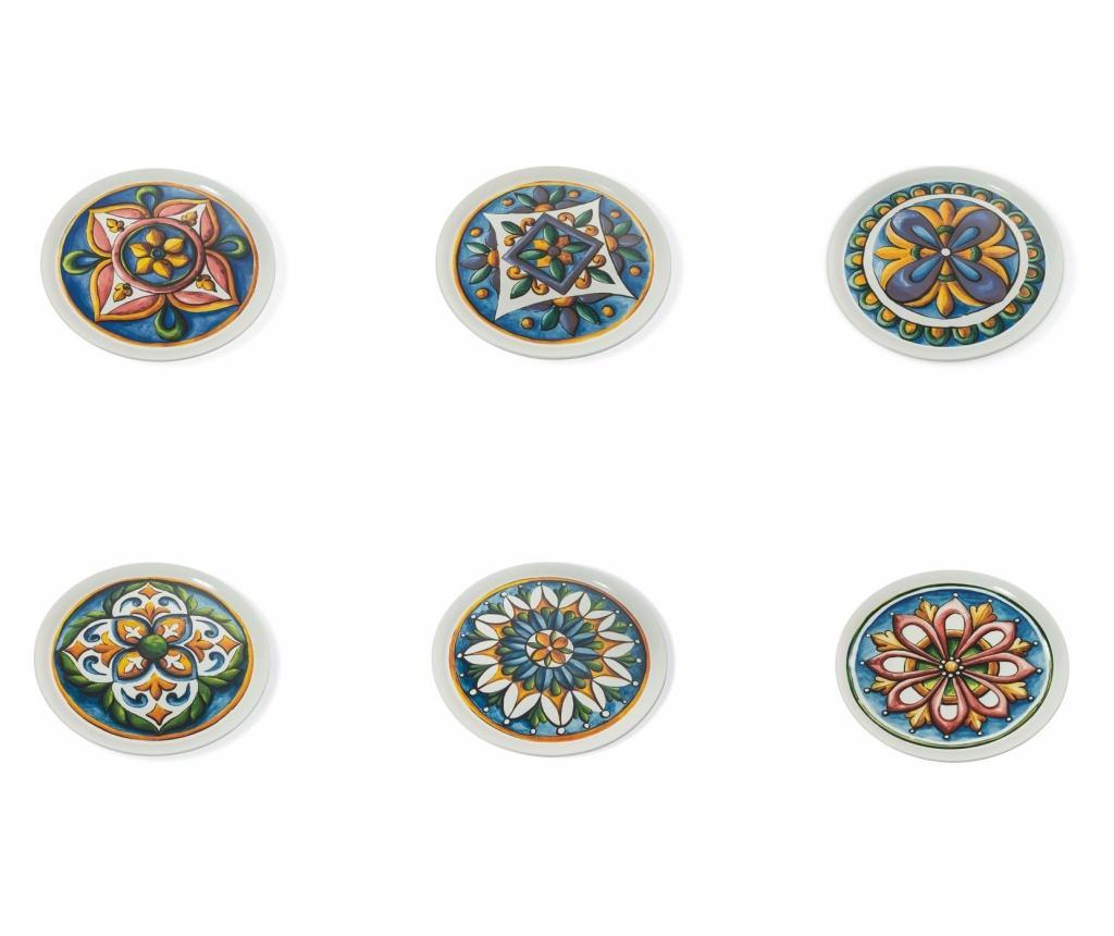 Set 6 farfurii pentru pizza Le Maioliche Multicolor imagine