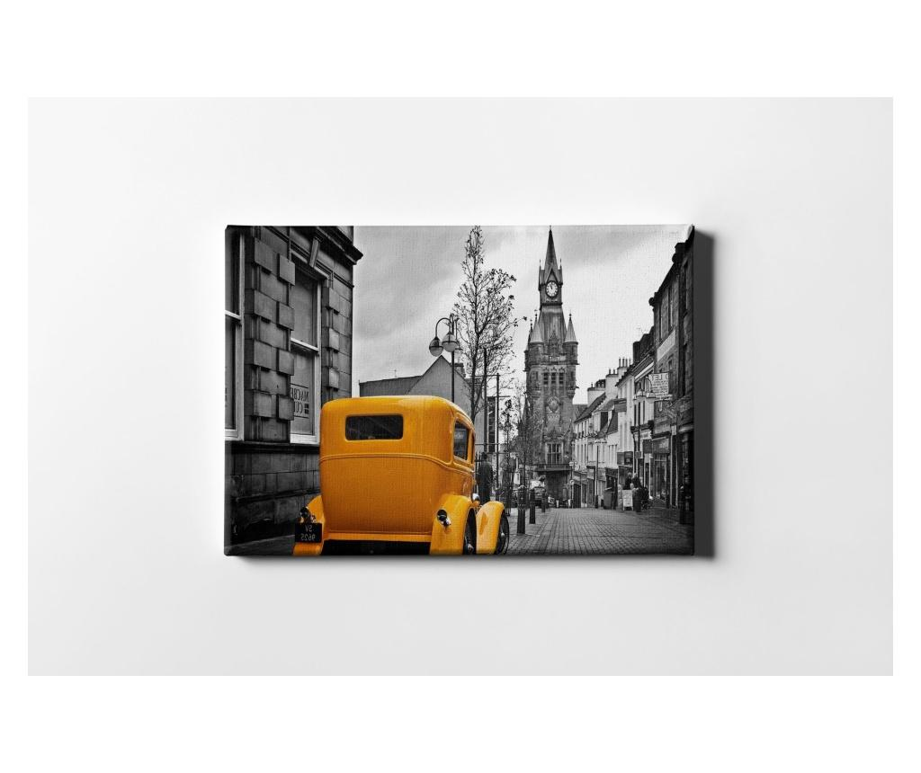 Tablou Orange Car 60x90 cm - CASBERG, Multicolor imagine