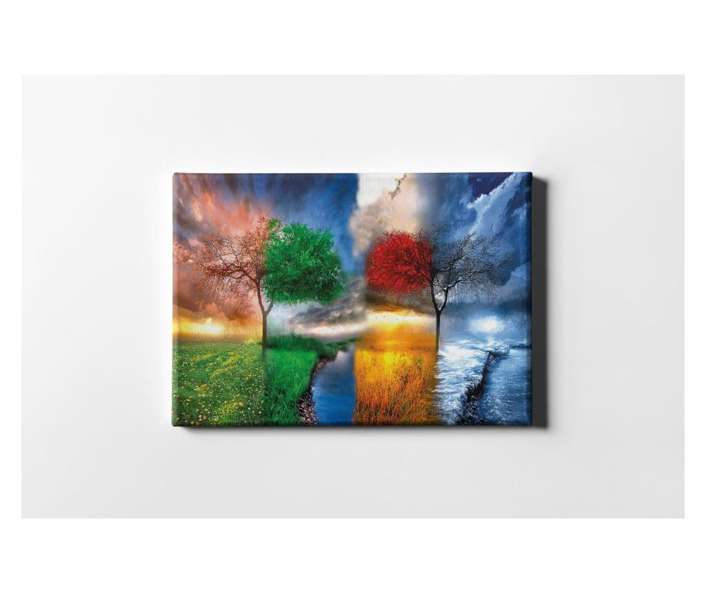 Tablou Four Season 60x90 cm - CASBERG, Multicolor imagine