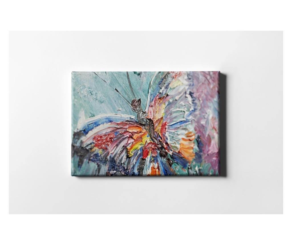 Tablou Oil Painting Butterfly 50x70 cm - CASBERG, Multicolor imagine