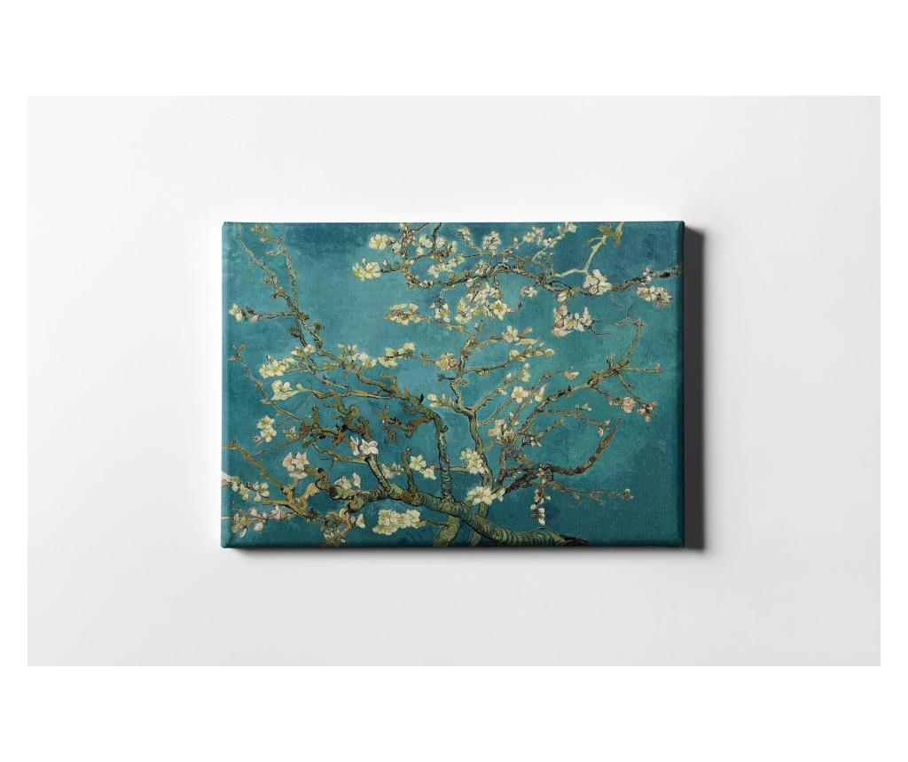 Tablou White Flowering Branches 60x90 cm - CASBERG, Multicolor imagine