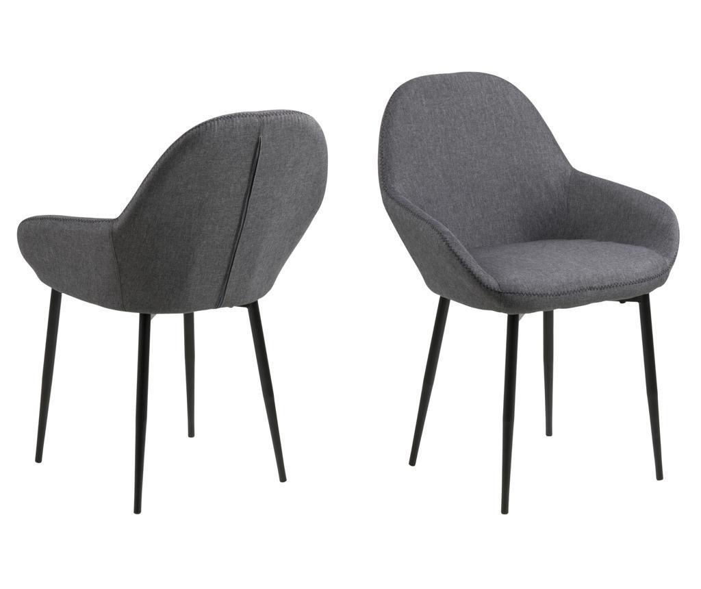 Set 2 scaune Candis Grey - actona poza