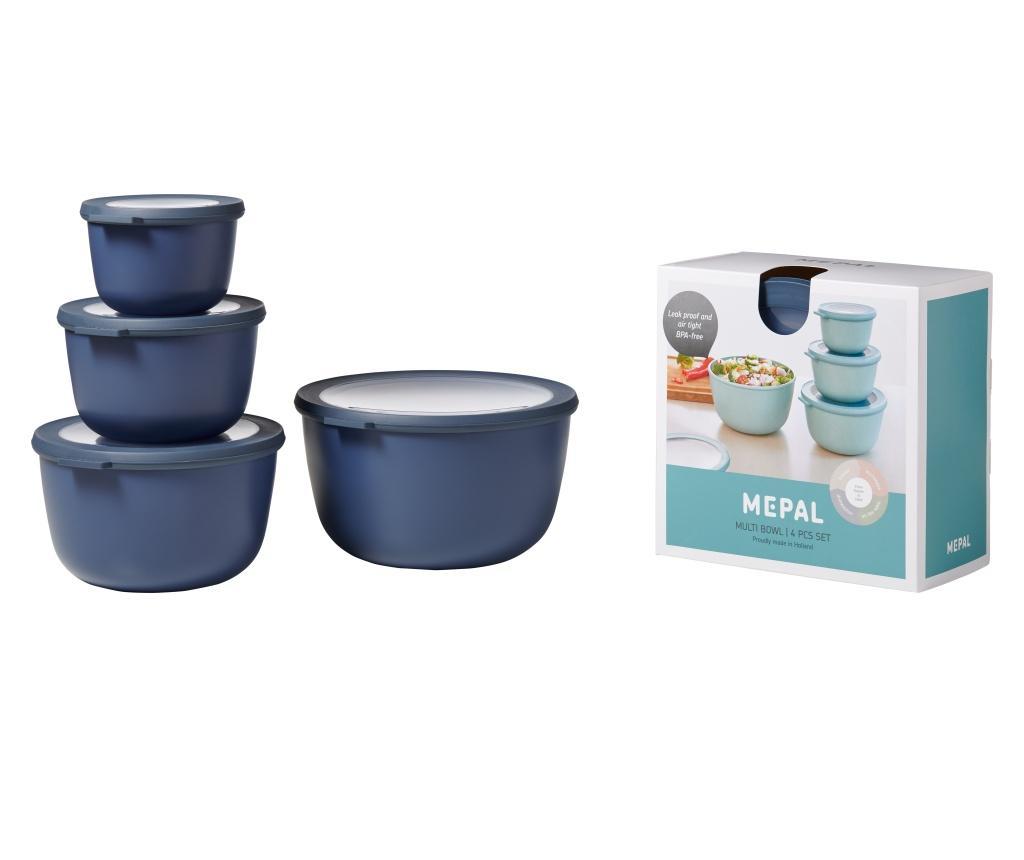 Set 4 boluri Cirqula - Mepal, Albastru imagine