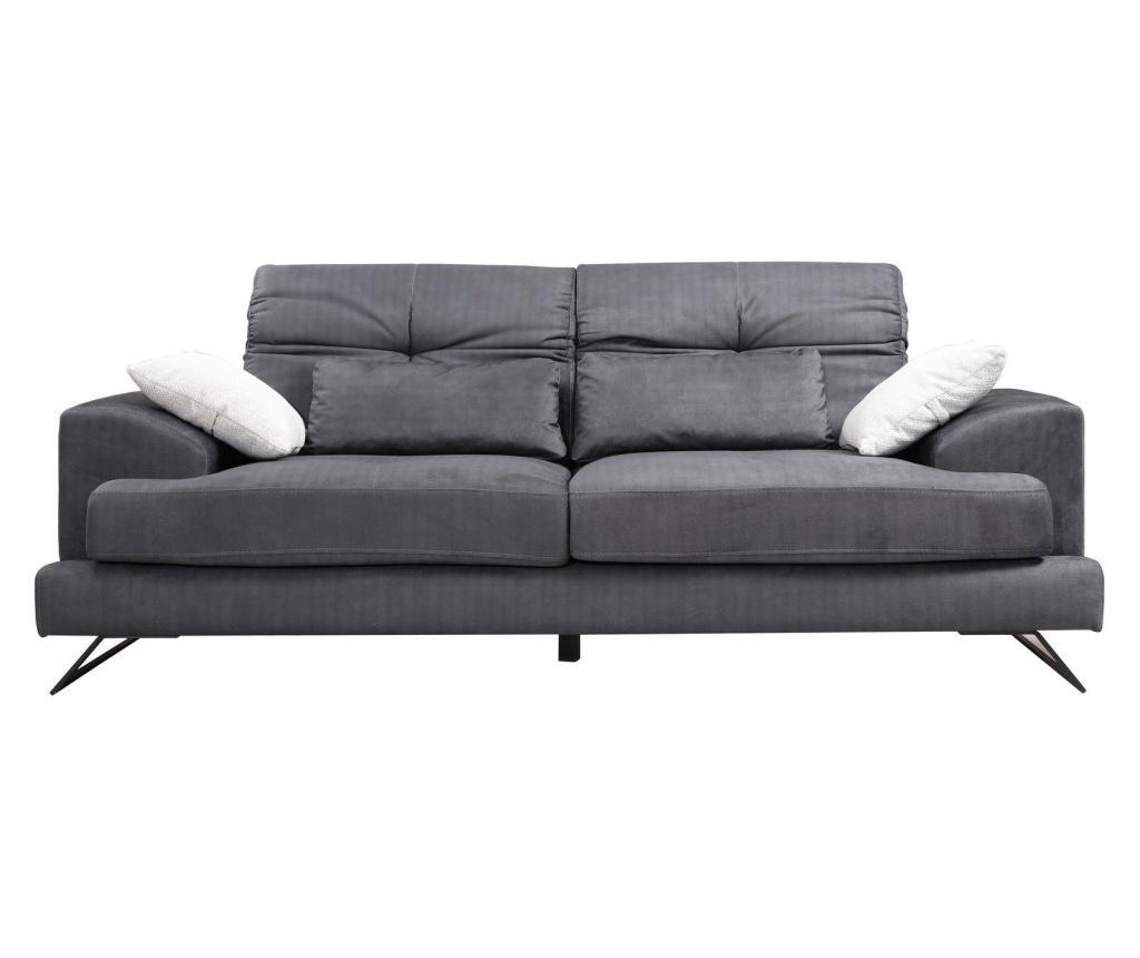 Canapea 2 locuri Frido - Artie, Gri & Argintiu poza