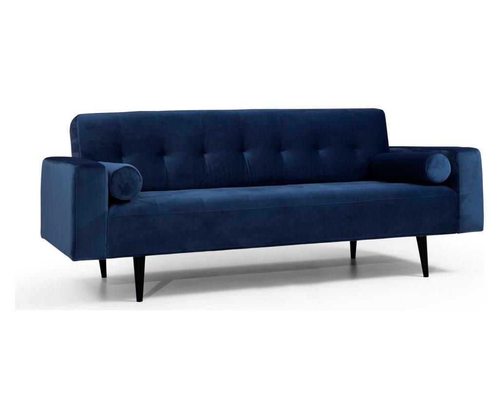 Canapea extensibila cu 3 locuri Derry - Artie, Albastru
