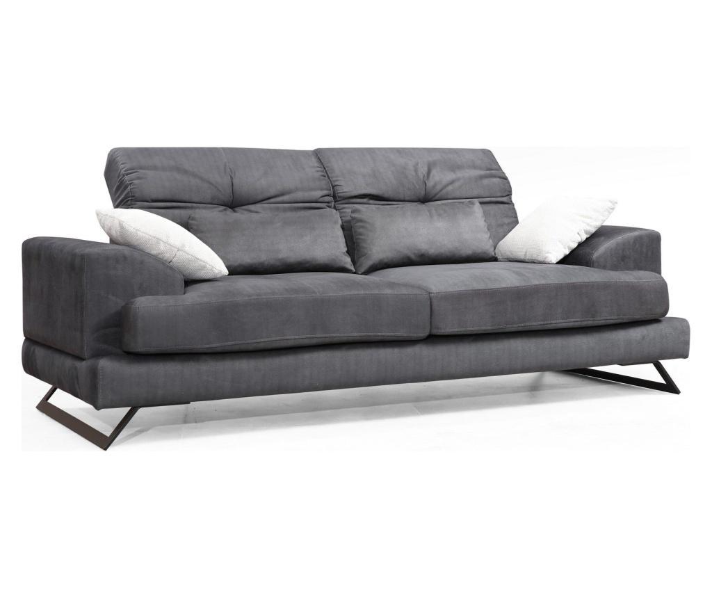 Canapea 3 locuri Frido - Artie, Gri & Argintiu poza noua