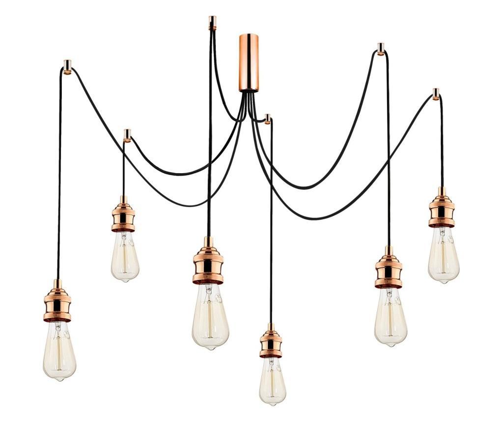 Závěsná lampa Kabluni Six Copper Round