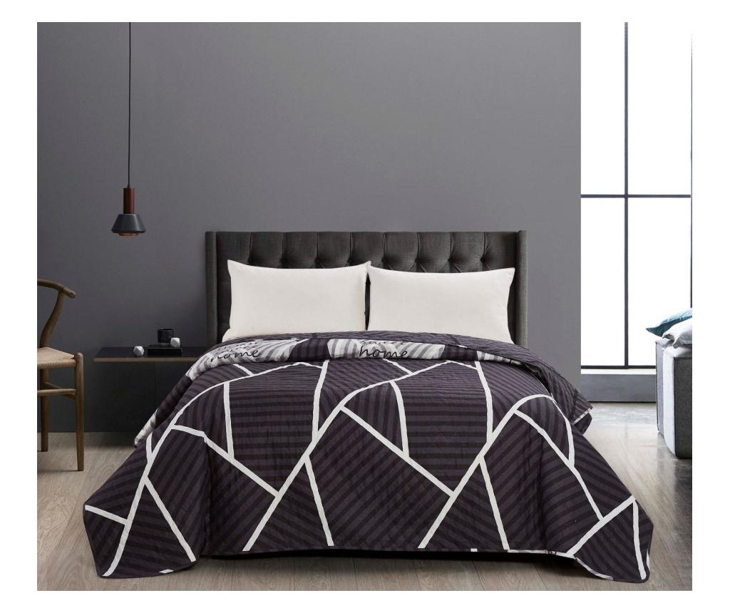 Cuvertura matlasata reversibila Home 260x280 cm - DecoKing, Alb vivre.ro
