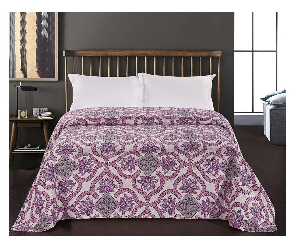 Cuvertura matlasata reversibila Vivian Wh&Pu 240x260 cm - DecoKing, Alb imagine vivre.ro