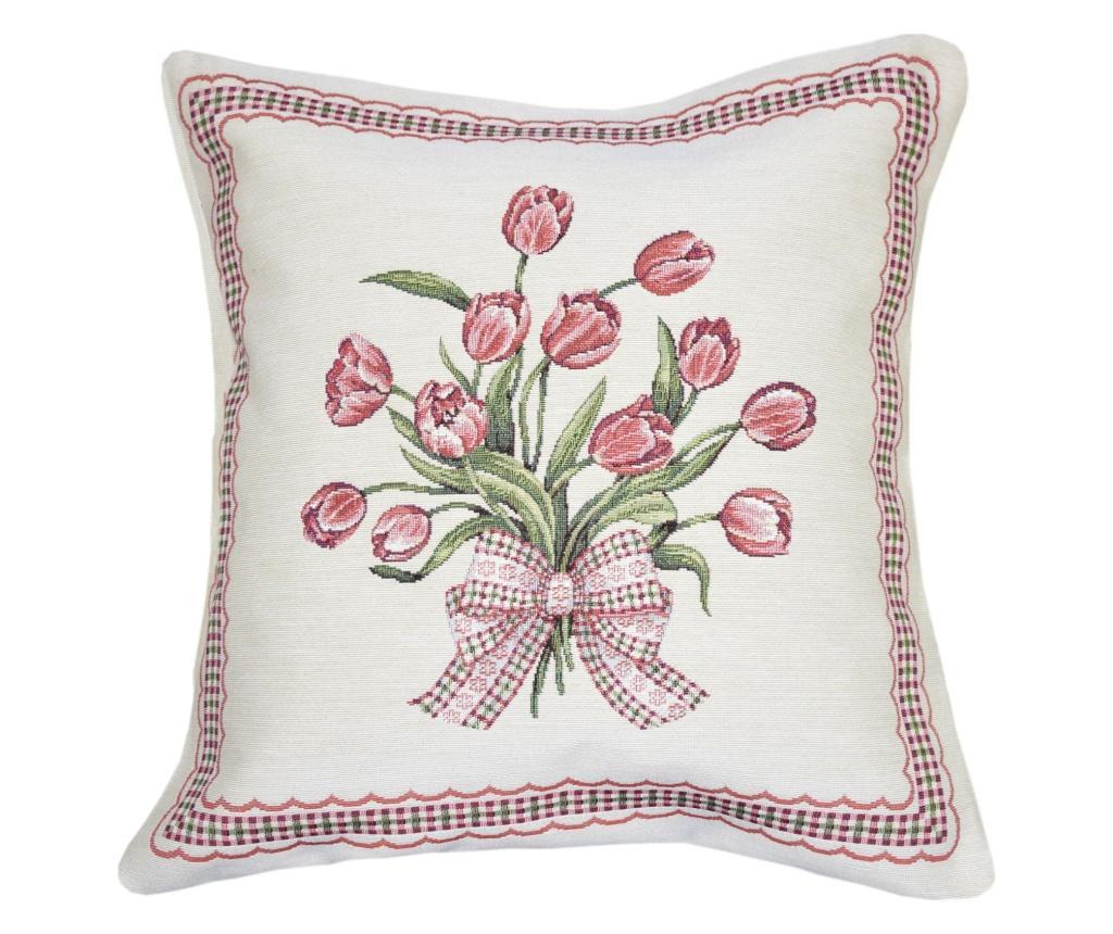 Set 2 fete de perna Tapestry Tulips 45x45 cm - Casa de bumbac, Multicolor imagine