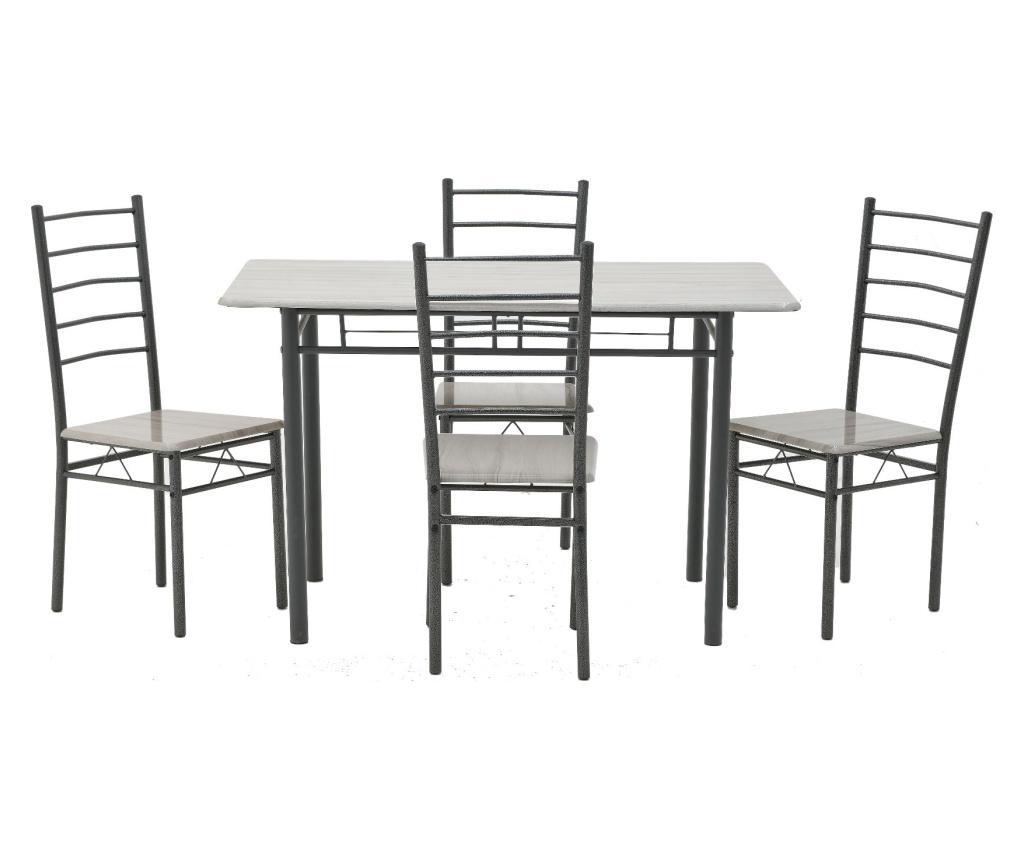 Set masa si 4 scaune - inart, Negru imagine