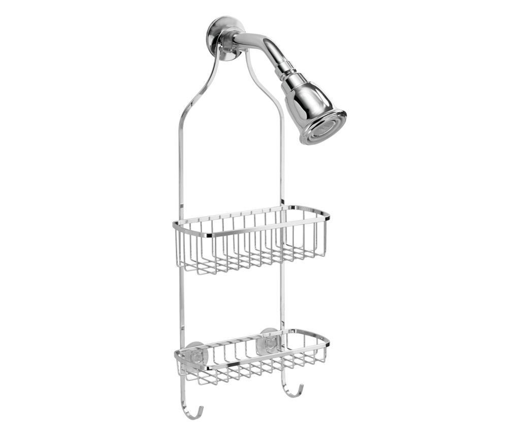 Suport accesorii de baie - iDesign, Gri & Argintiu