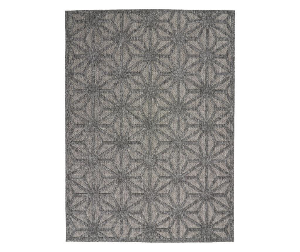 Covor 160x221 cm - Nourison, Gri & Argintiu poza