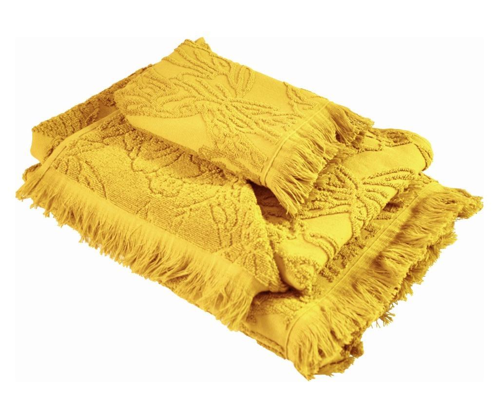 Set 3 prosoape de baie Blossom Yellow