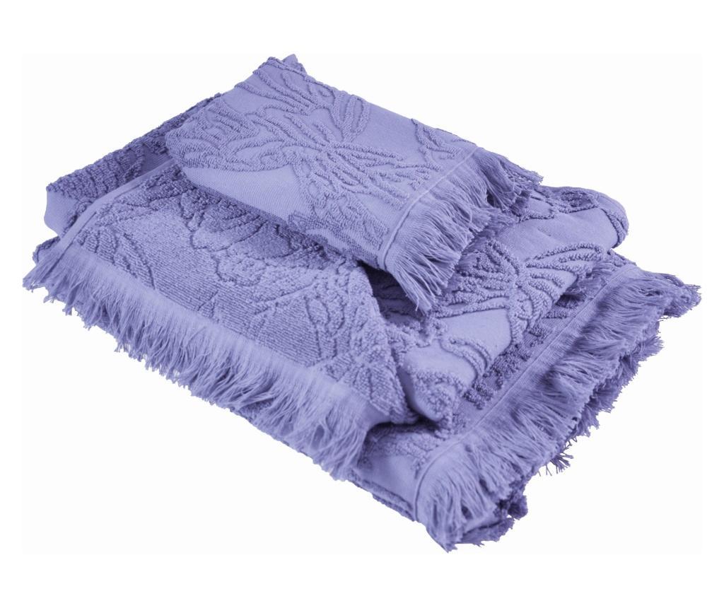 Set 3 prosoape de baie Blossom Purple