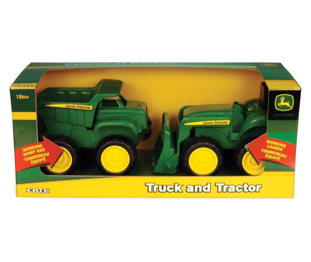 Set 2 autovehicule de jucarie Tractor and Dump imagine