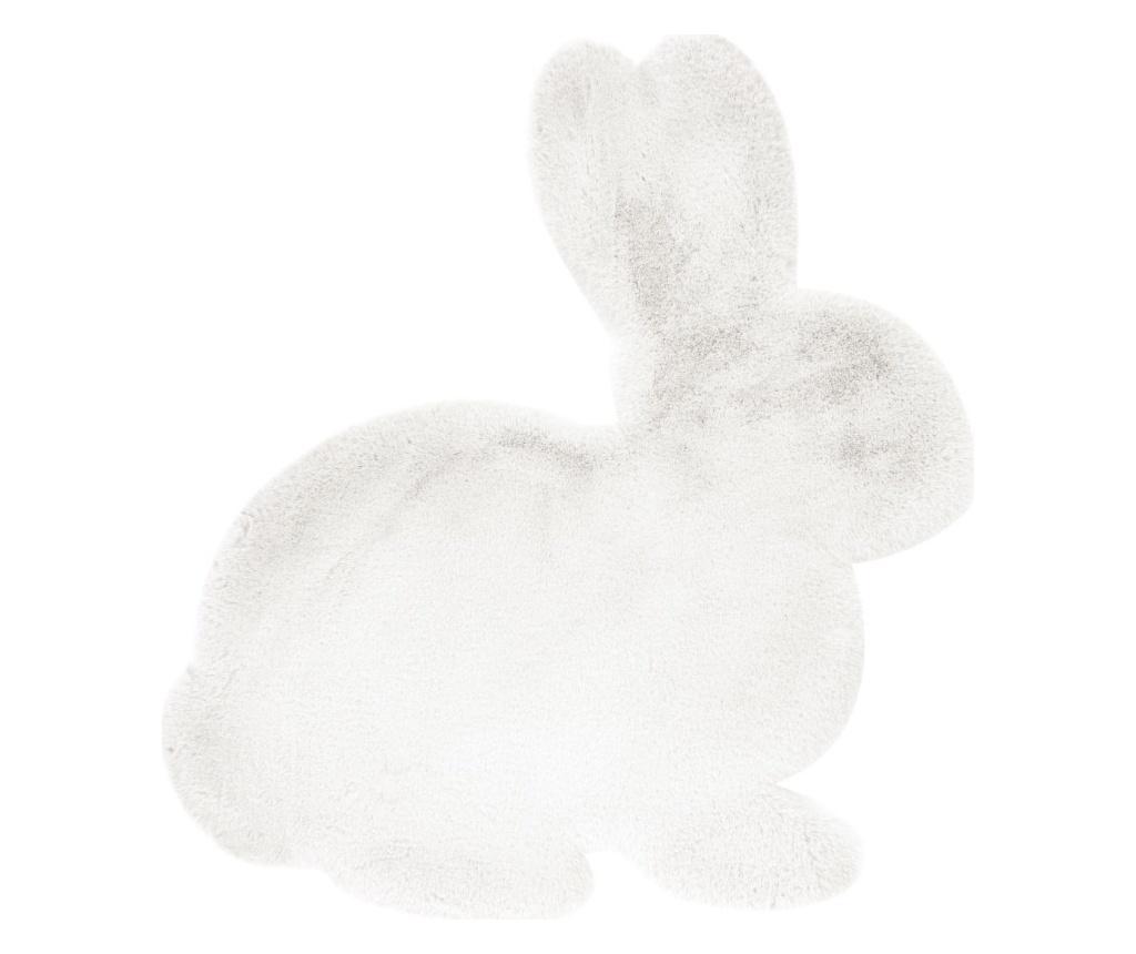 Covor Fluffy Kids Rabbit White 80x90 cm - Kayoom, Alb