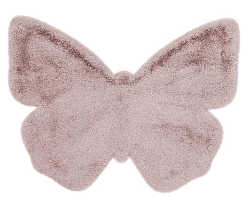 Covor Fluffy Kids Butterfly Rosa 70x90 cm - Kayoom, Roz