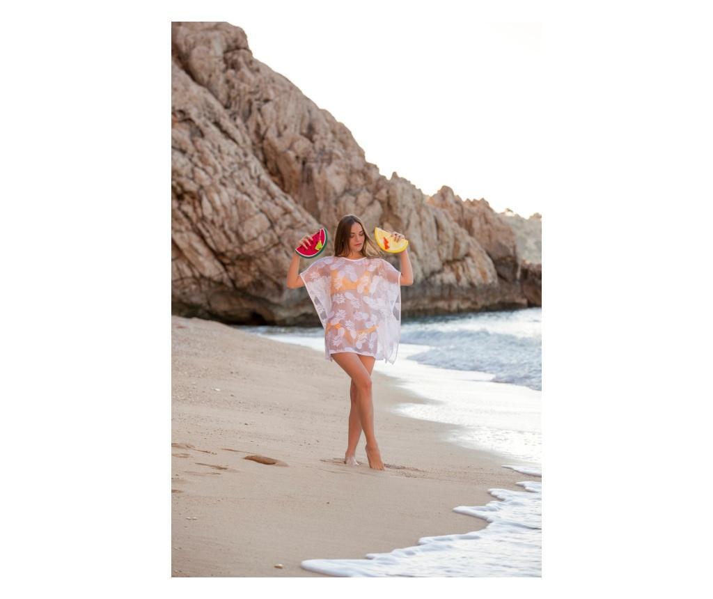 Rochie de plaja dama Pineapple White one size