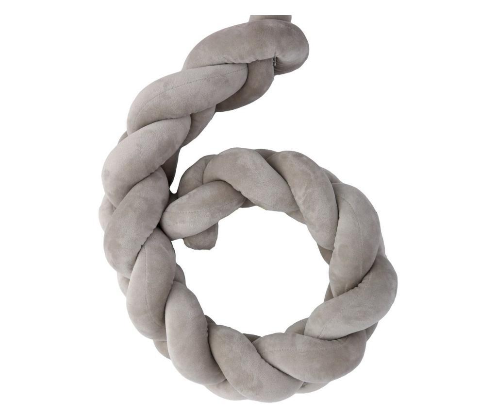 Protectie pentru patut Grey - PLASTIMYR, Gri & Argintiu imagine vivre.ro