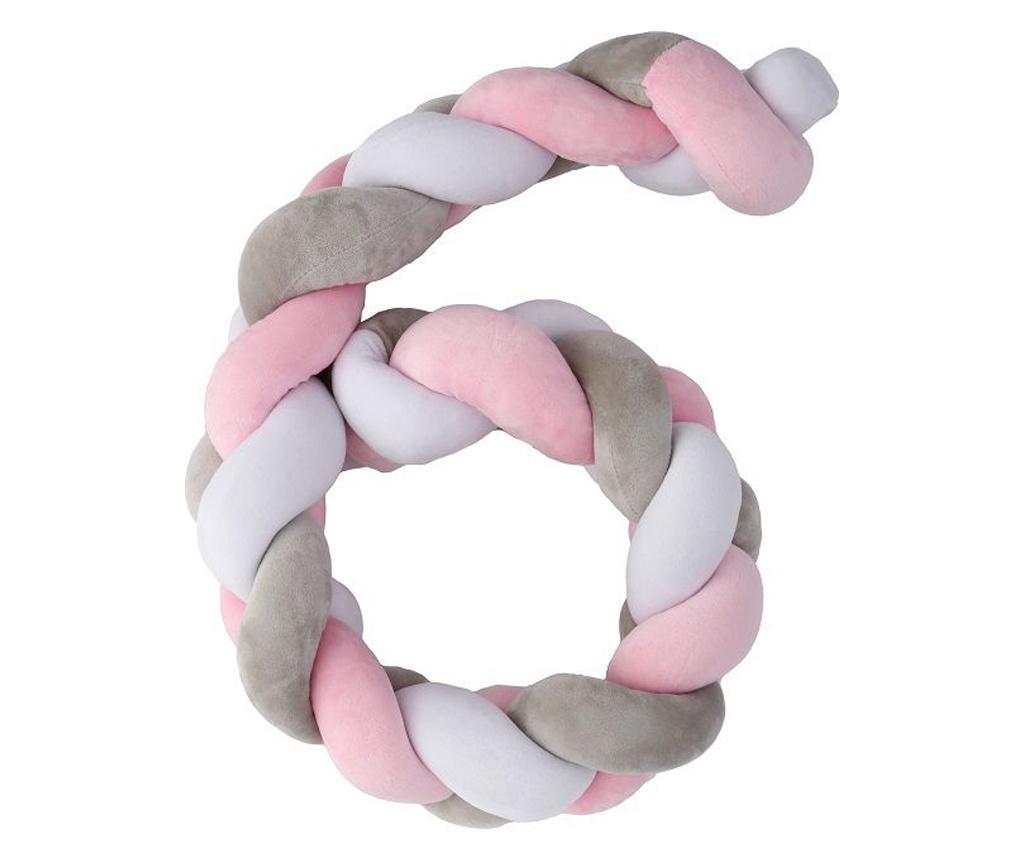 Protectie pentru patut Pink - PLASTIMYR, Roz