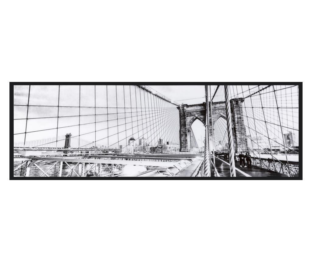 Tablou 40x120 cm - Eurofirany, Gri & Argintiu imagine