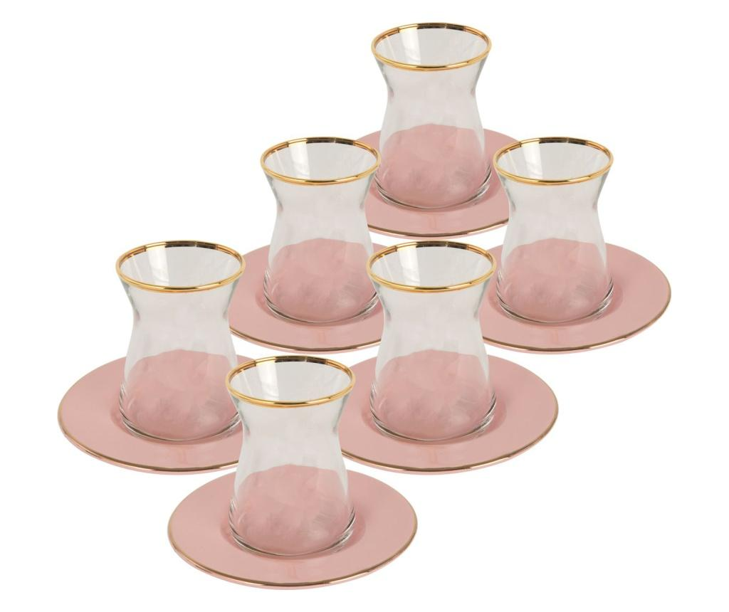 Set pentru ceai 12 piese Allure Rose imagine
