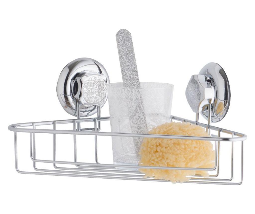 Suport accesorii de baie Bestlock - Compactor, Gri & Argintiu imagine