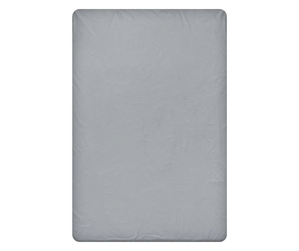 Cearsaf de pat cu elastic Dark Grey 200x220 cm - Dilios, Gri & Argintiu vivre.ro