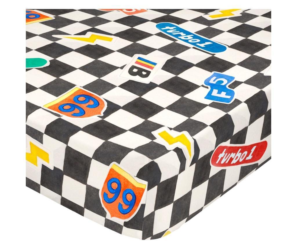 Cearsaf de pat cu elastic Racer 90x200 cm imagine