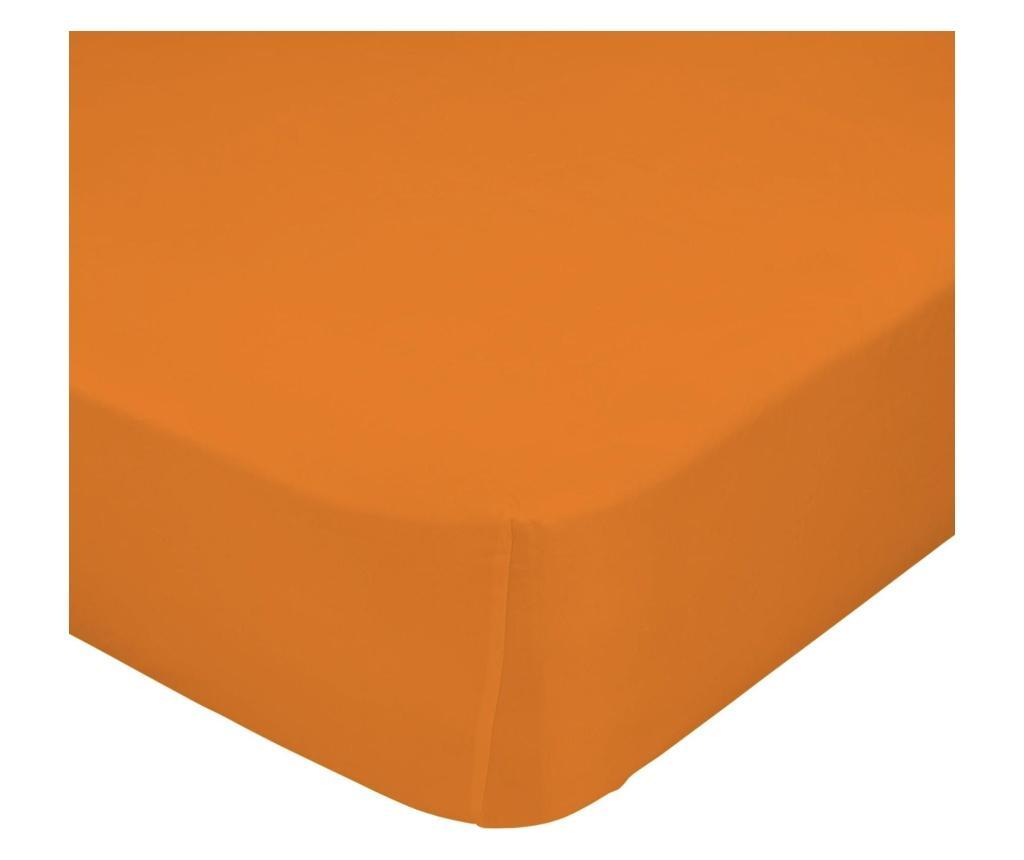 Cearsaf de pat cu elastic Basic Orange 140x200 cm - Basic, Portocaliu imagine