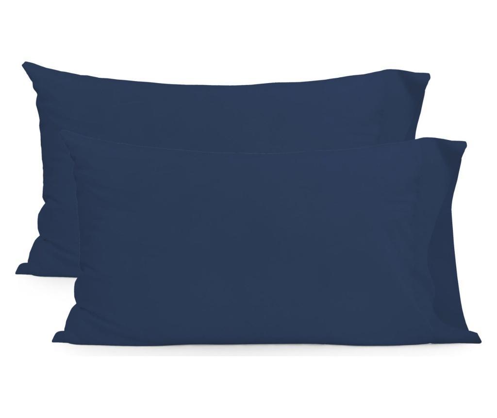 Set 2 fete de perna Basic Rectangular Navy 50x75 cm - Basic, Albastru vivre.ro