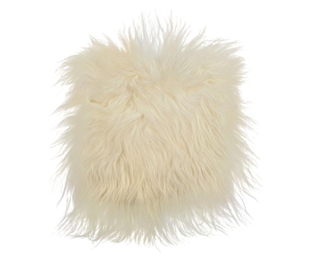Perna de sezut din piele de miel Icelandic lambskin - Arctic Fur, Alb imagine