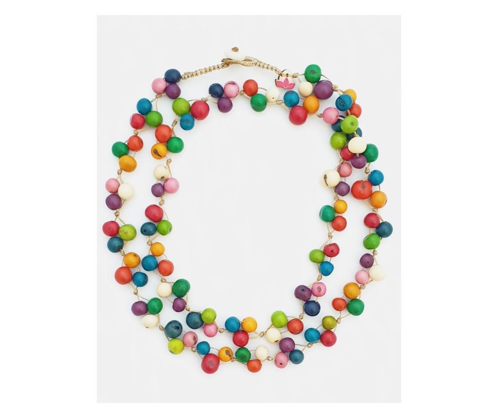 Colier dama Acai Collection - Pretty Pink Eco-Jewellery, Multicolor imagine