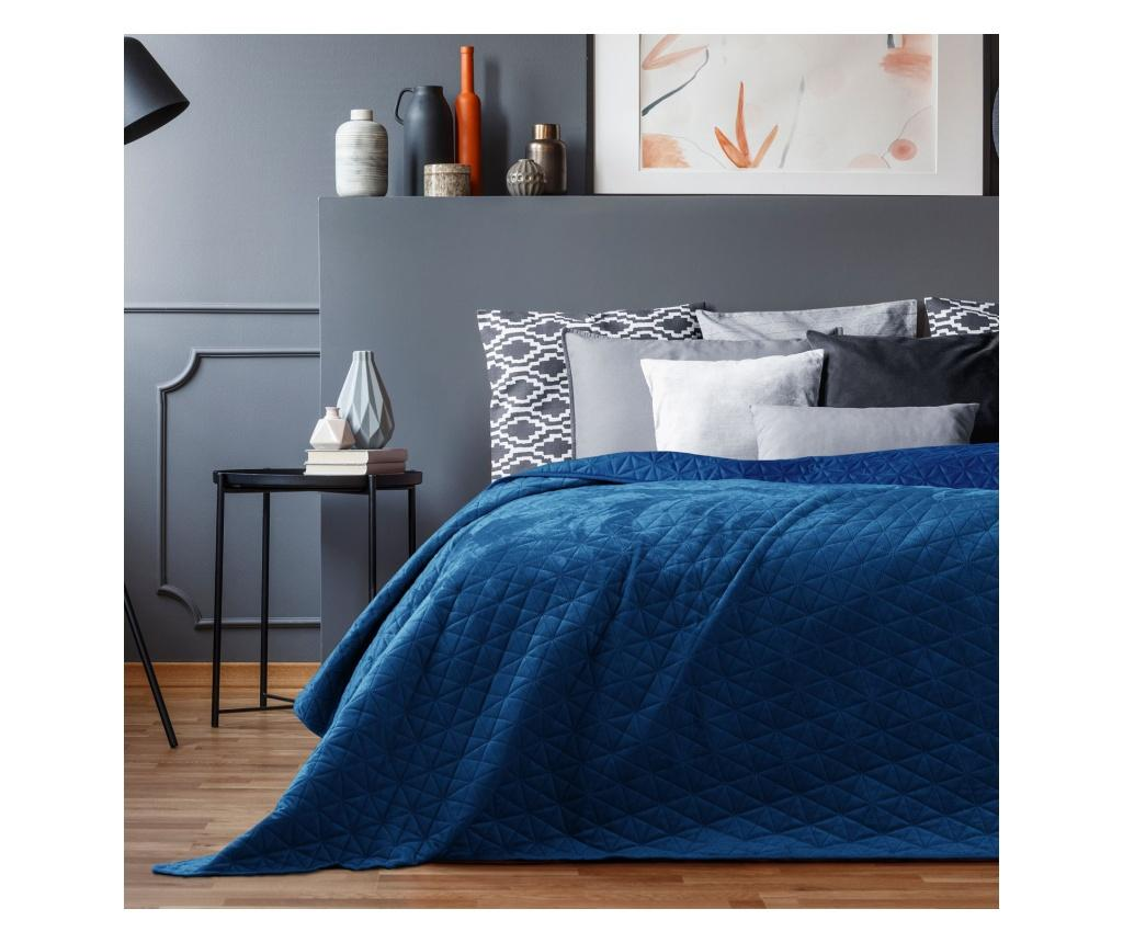 Cuvertura matlasata Laila Royal Blue 220x240 cm - AmeliaHome, Albastru vivre.ro