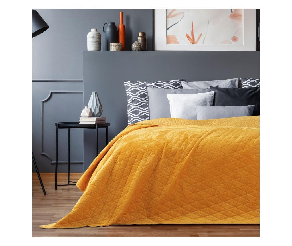 Cuvertura matlasata Laila Honey 240x260 cm - AmeliaHome, Galben & Auriu imagine