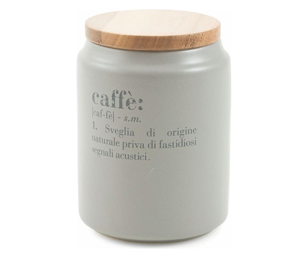Recipient cu capac pentru cafea Victionary - Villa D'Este, Gri & Argintiu vivre.ro