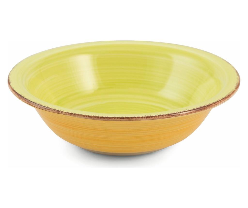Set 6 farfurii adanci Baita Yellow imagine