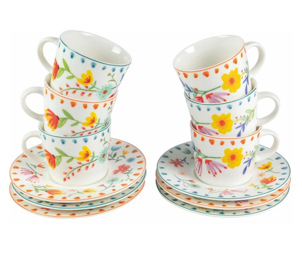 Set 6 cesti pentru cafea Paseo de Flores imagine