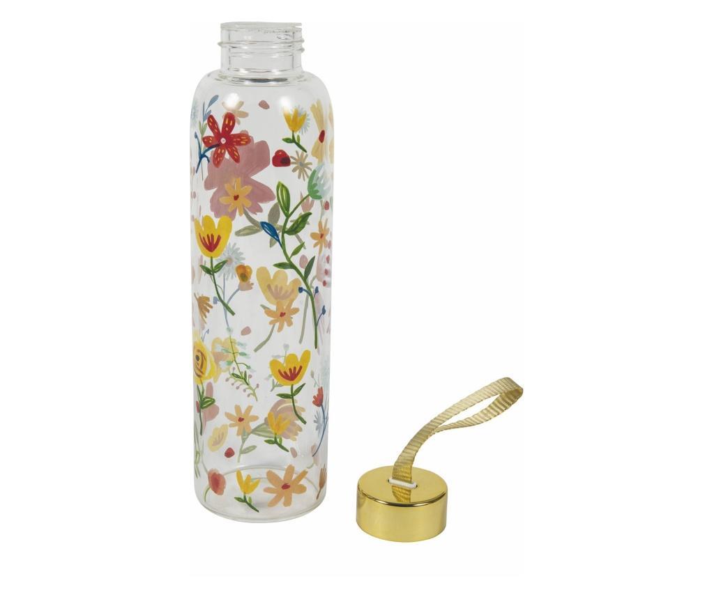 Sticla pentru apa Paseo de Flores - Villa D'Este, Gri & Argintiu imagine