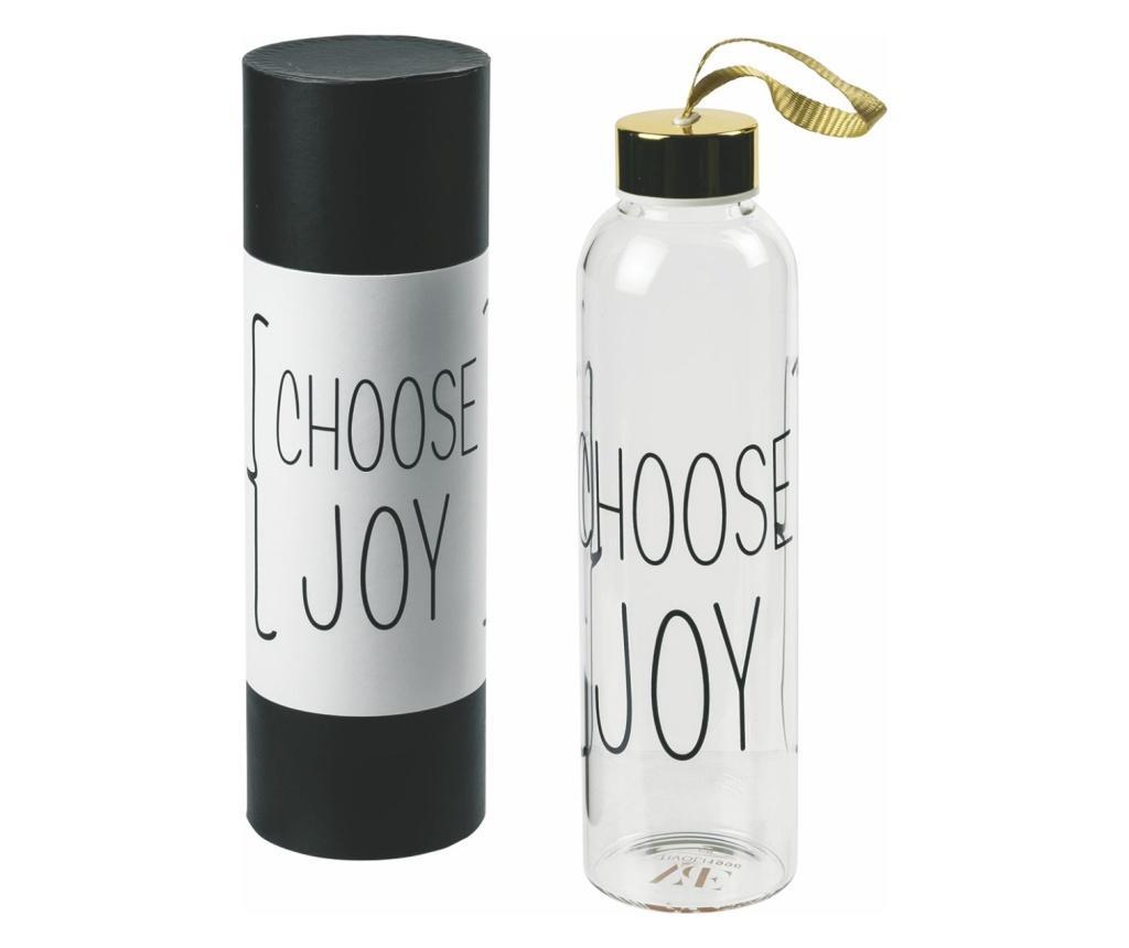 Sticla pentru apa Choose Joy - Villa D'Este, Gri & Argintiu vivre.ro