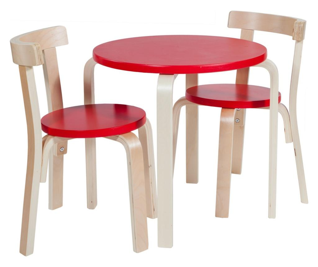Set masa si 2 scaune - Creaciones Meng, Crem