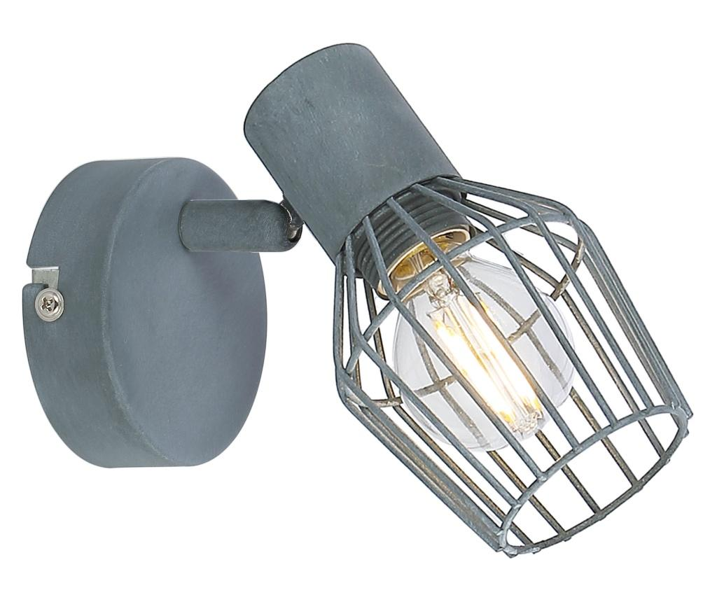 Aplica de perete Viking - Candellux Lighting, Gri & Argintiu