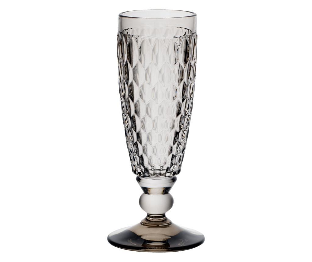 Set 4 pahare pentru sampanie Boston Coloured Grey - Villeroy & Boch, Gri & Argintiu imagine vivre.ro